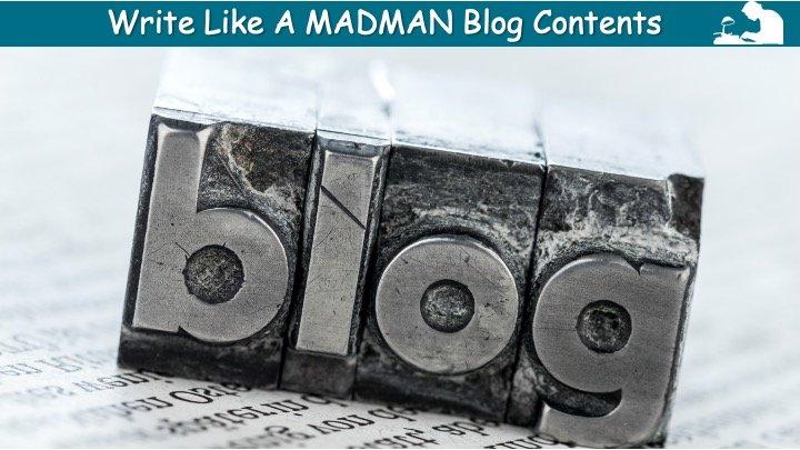 WLAM Blog Contents